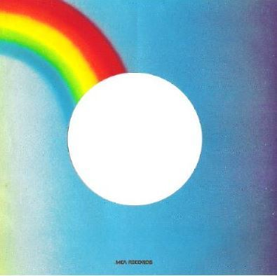 MCA / Blue, Orange, Rainbow Colors (1984) / Each Side is Different / Glossy (Record Company Sleeve, 7