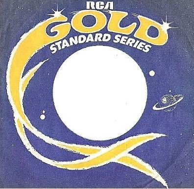RCA / Gold Standard Series (1976) / Dark Blue-Yellow-White (Record Company Sleeve, 7