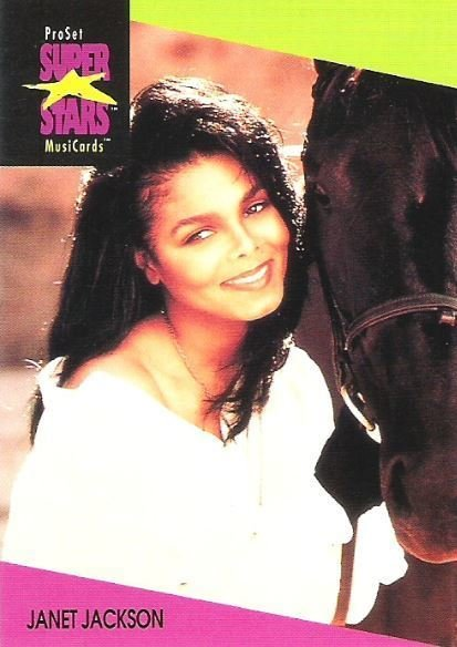 Jackson, Janet / ProSet SuperStars MusiCards #59   Music Trading Card (1991)