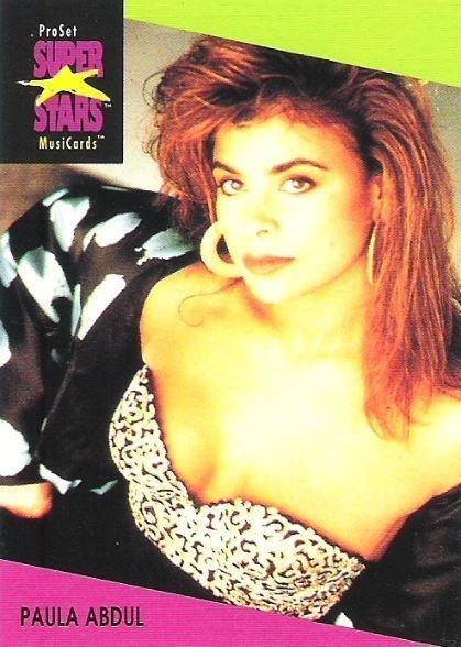 Abdul, Paula / ProSet SuperStars MusiCards (1991) / Card #27 (Trading Card)