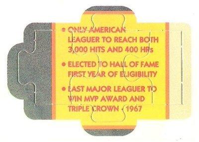 Yastrzemski, Carl / Boston Red Sox (1990) / Donruss Puzzle Card / Pieces 16, 17 + 18 (Baseball Card)