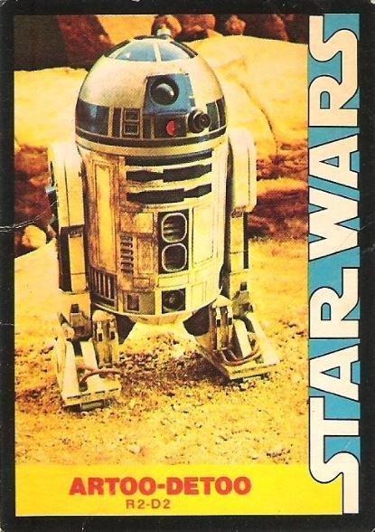 Star Wars / Artoo-Detoo (1977) / Wonder Bread #8 (Trading Card)