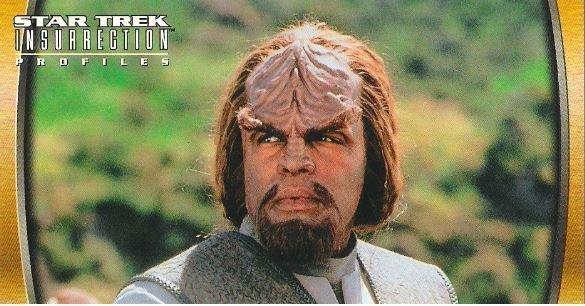 Star Trek: Insurrection / Lieutenant Commander Worf (1998) / Fleer #58 (Trading Card)