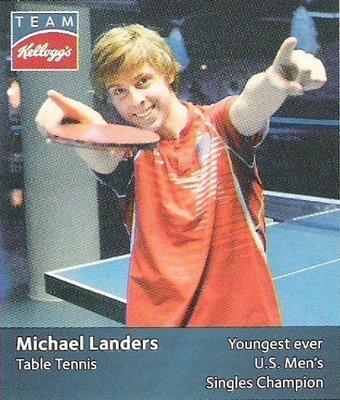 Landers, Michael / USA Olympic Team (2012) / Table Tennis (Trading Card)