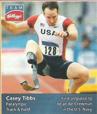 Tibbs, Casey / USA Olympic Team (2012) / Paralympic Track + Field (Trading Card)