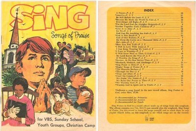 Various Artists / Sing Songs of Praise (1972) / Standard Publishing 9243 (Song Book)