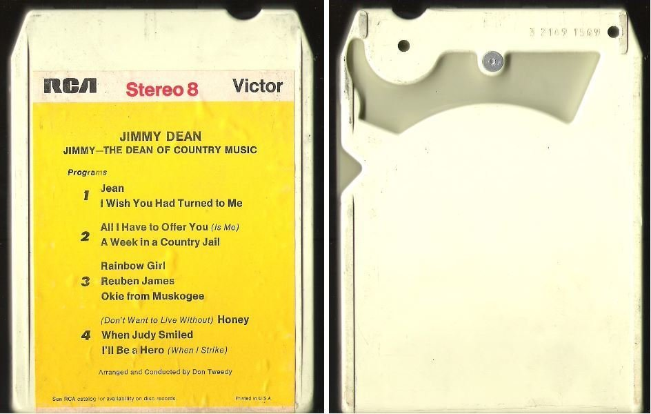 Dean, Jimmy / Jimmy - The Dean of Country Music (1970) / RCA Victor P8S-1569 (8-Track Tape)