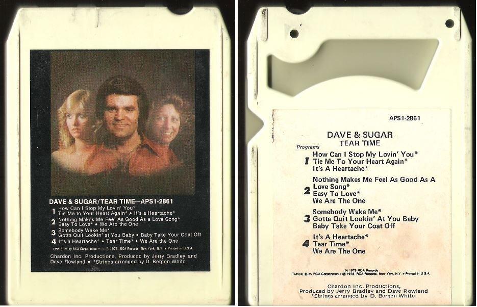 Dave + Sugar / Tear Time (1978) / RCA APS1-2861 (8-Track Tape)