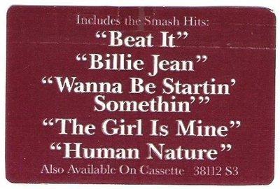 Jackson, Michael / Thriller / Epic 38112 S3 / Sticker (1982)