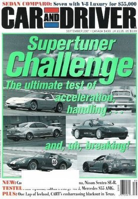 Car and Driver / Supertuner Challenge / September 2008 / Magazine