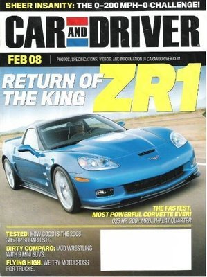 Car and Driver / Return of the King ZR1 / February 2008 / Magazine (2008)
