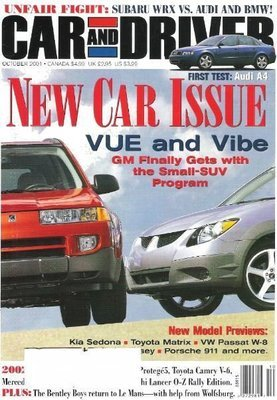 Car and Driver / New Car Issue / October 2001 | Magazine (2001)