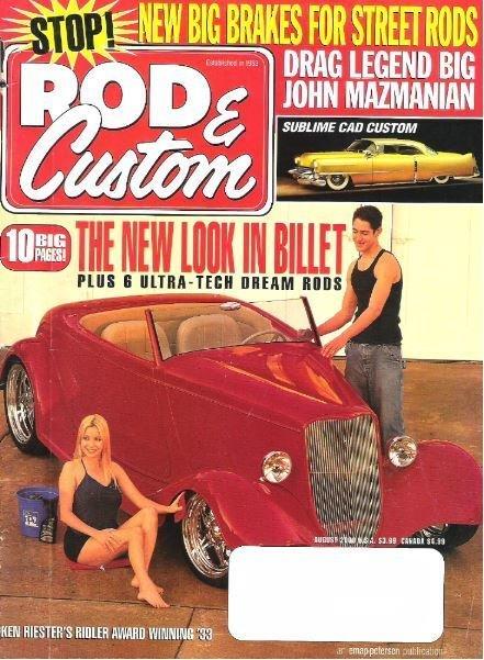 Rod + Custom / The New Look In Billet / August 2000 | Magazine (2000)