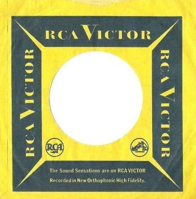 RCA Victor / The Sound Sensations are on RCA VICTOR / Yellow-Dark Blue (Record Company Sleeve, 7