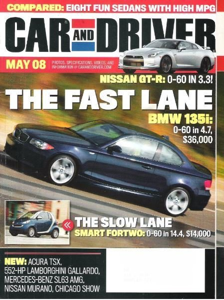 Car and Driver / The Fast Lane / May 2008 | Magazine (2008)
