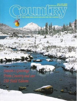 Country / Season's Greetings From Country and Our 250 Field Editors / December - January 2000 | Magazine (2000)