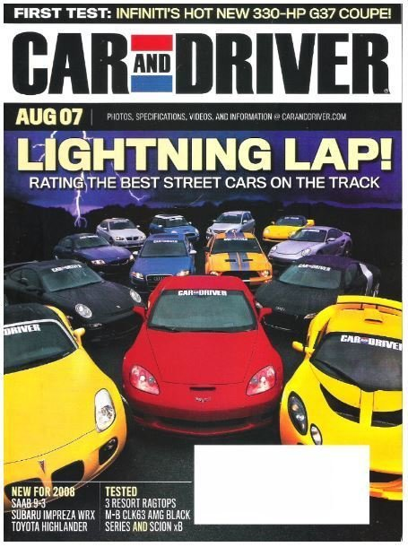 Car and Driver / Lightning Lap! / August 2007 | Magazine (2007)