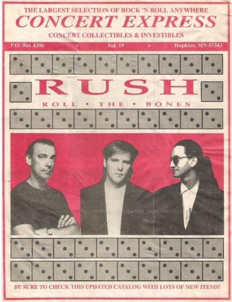 Rush / Concert Express / Roll the Bones / Vol. 19 | Catalog (1991)