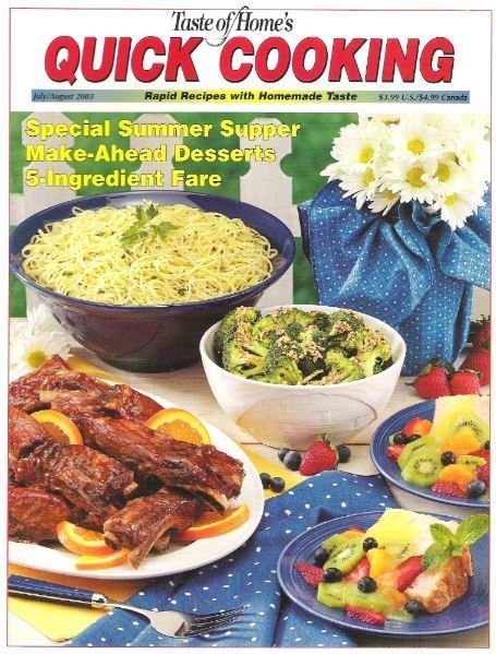 Quick Cooking / Special Summer Supper / July - August 2003 | Magazine (2003)