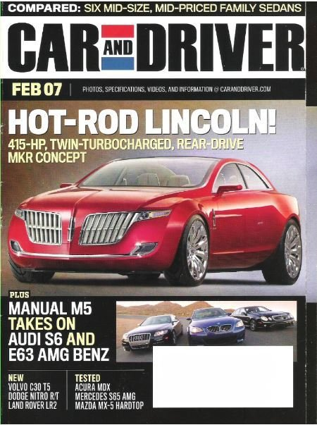 Car and Driver / Hot-Rod Lincoln! / February 2007   Magazine (2007)