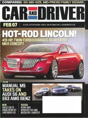 Car and Driver / Hot-Rod Lincoln! / February 2007 | Magazine (2007)