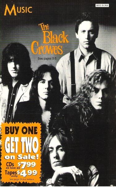 Black Crowes, The / Music (Columbia House) | Catalog (1993)