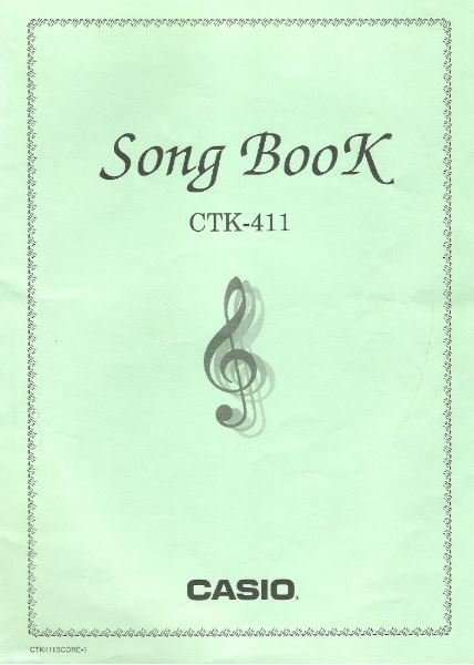Casio / Song Book for CTK-411 Keyboard   Song Book (1997)