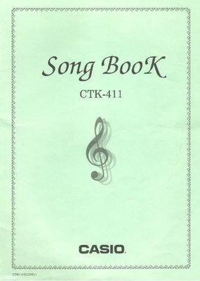 Casio / Song Book for CTK-411 Keyboard | Song Book (1997)