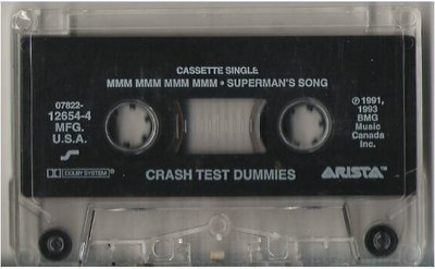 Crash Test Dummies / Mmm Mmm Mmm Mmm / Arista 12654-4 | Cassette Single (1993)