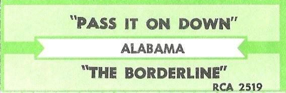 Alabama / Pass It On Down / RCA 2519 | Jukebox Title Strip (1990)