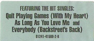 Backstreet Boys / Backstreet Boys / Jive 01241-41589-2-R | Sticker (1997)