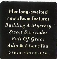McLachlan, Sarah / Surfacing / Arista 07822-18970-2/4   Sticker (1997)