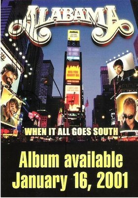 Alabama / When It All Goes South / BMG Entertainment | Postcard (2000)