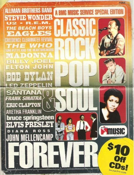BMG Music Service / Classic Rock Pop + Soul Forever | Catalog (1999)