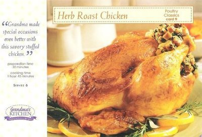 Grandma's Kitchen / Herb Roasted Chicken / Poultry Classics, Card 9 | Recipe Card
