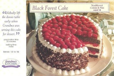 Grandma's Kitchen / Black Forest Cake / Traditional Cakes + Pies, Card 10 | Recipe Card