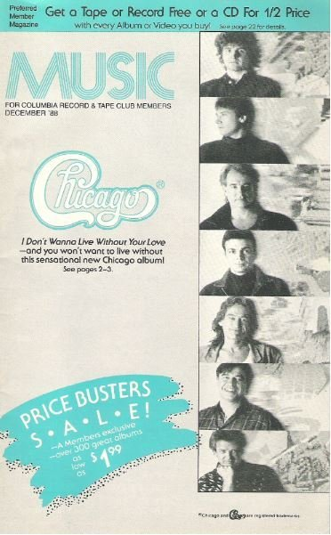 Chicago / Music / December 1988 | Catalog (1988)