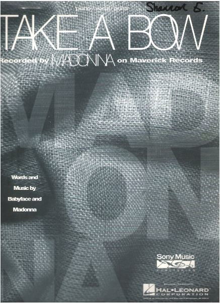 Madonna / Take a Bow / Sony Music Publishing | Sheet Music (1994)