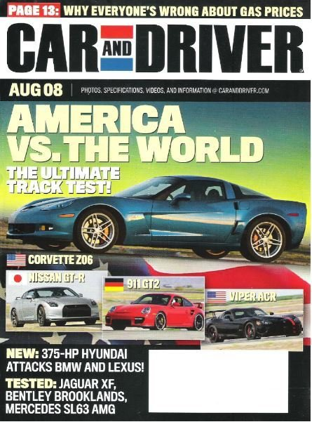 Car and Driver / America vs. The World / August 2008 | Magazine (2008)