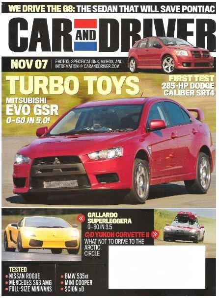 Car and Driver / Turbo Toys / November 2007   Magazine (2007)