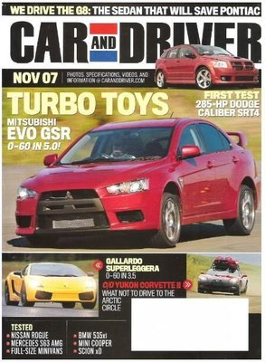 Car and Driver / Turbo Toys / November 2007 | Magazine (2007)
