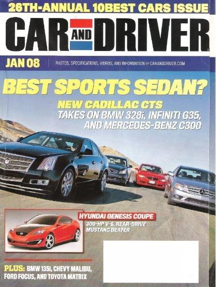 Car and Driver / Best Sports Sedan? / January 2008 | Magazine (2008)