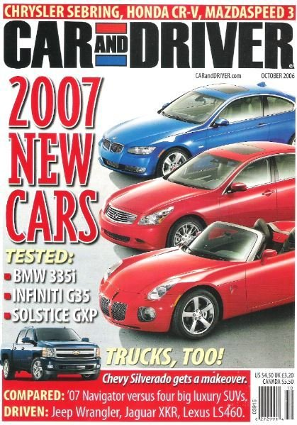 Car and Driver / 2007 New Cars / October   Magazine (2006)