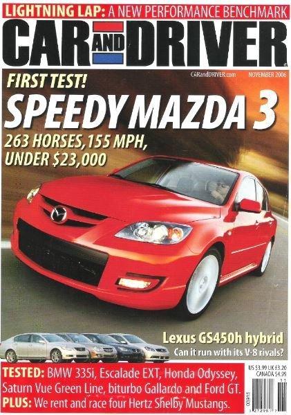 Car and Driver / Speedy Mazda 3 / November 2006 | Magazine (2006)