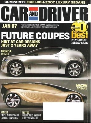 Car and Driver / Future Coupes / January 2007 | Magazine (2007)