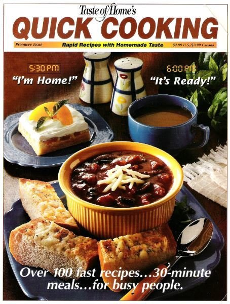 Quick Cooking / I'm Home! - It's Ready! / Premiere Issue / Magazine (1998)