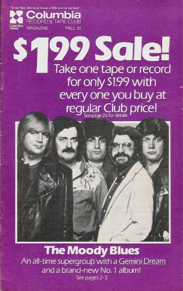 Moody Blues, The / Columbia Record + Tape Club / Fall | Catalog (1981)