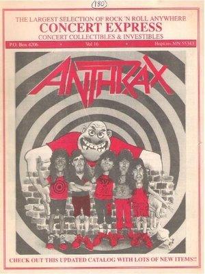 Anthrax / Concert Express / Vol. 16 | Catalog (1991)