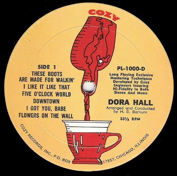 Hall, Dora / Great Hits! / Cozy PL-1000-D | Twelve Inch Vinyl Album