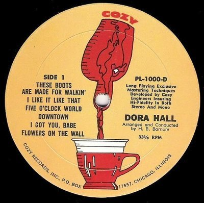 Hall, Dora / Great Hits! / Cozy PL-1000-D | Twelve Inch Vinyl Album